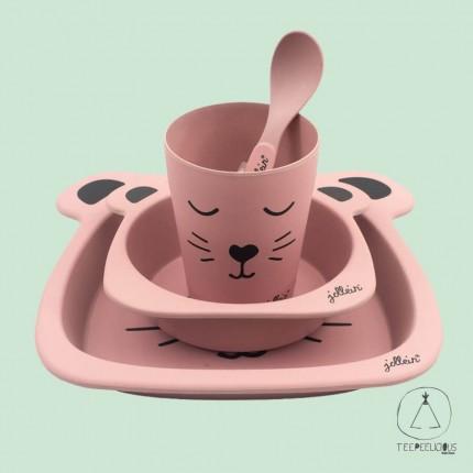 Dinner set animal pink