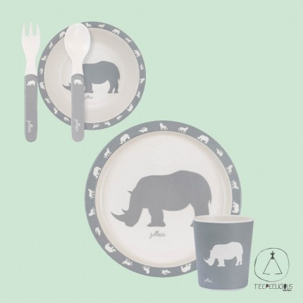 Dinner set safari grey