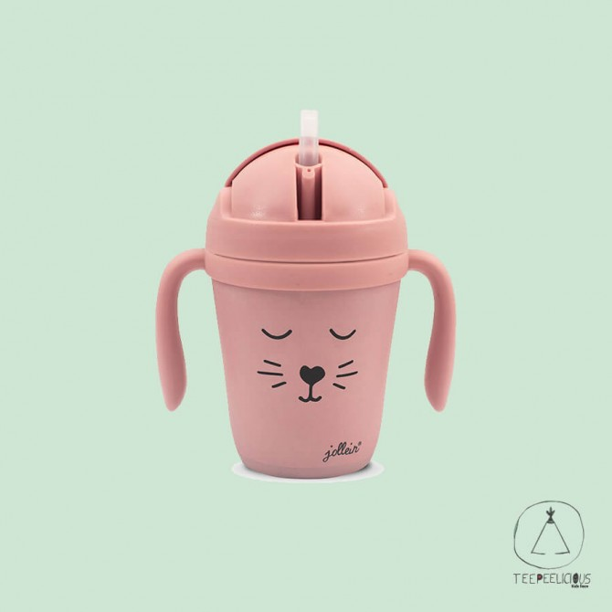 Bamboo cup animal pink