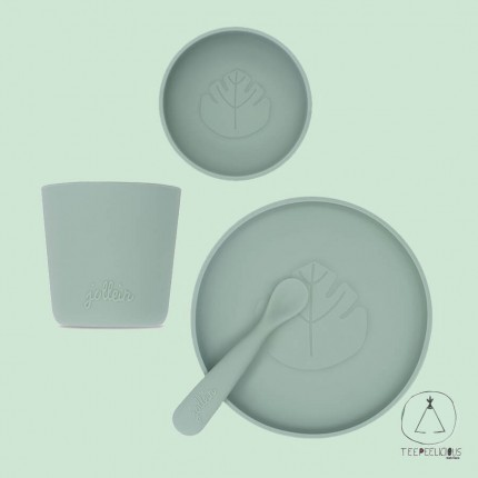 Dinner set silicone-green