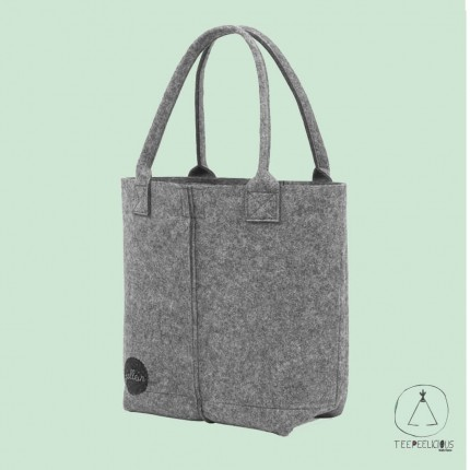 Diaper bag felt grey