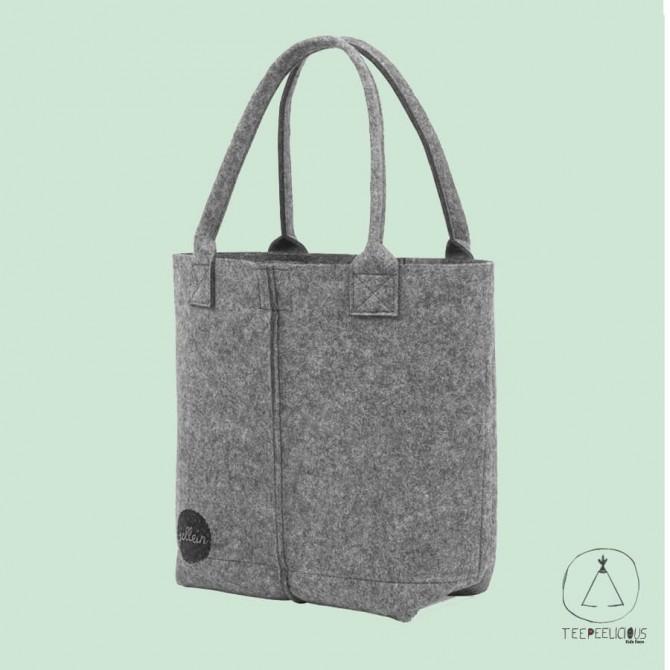 Diaper bag felt grey