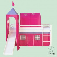 Castle bed hot pink