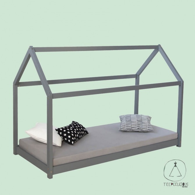 HOUSE BED GREY