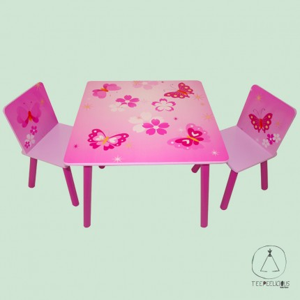 "Set table with chairs ""Butterflies"""