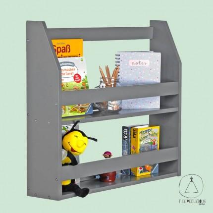 Montessori bookshelf grey