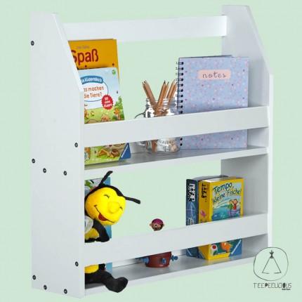Montessori bookshelf white
