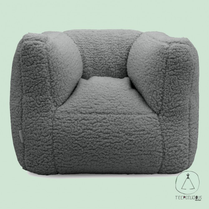 KIDS' ARMCHAIR TEDDY GRΕΥ