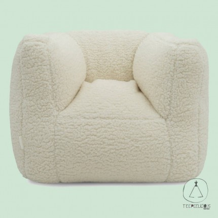 KIDS' ARMCHAIR TEDDY OFF WHITE