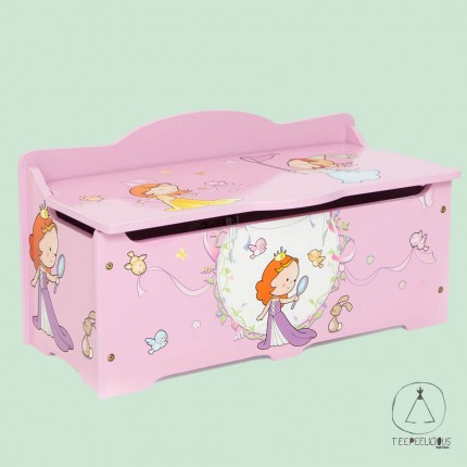 Wooden Toy box Princess