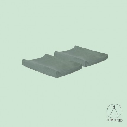 Changing Mat cover  stone green  (set of 2 pcs)