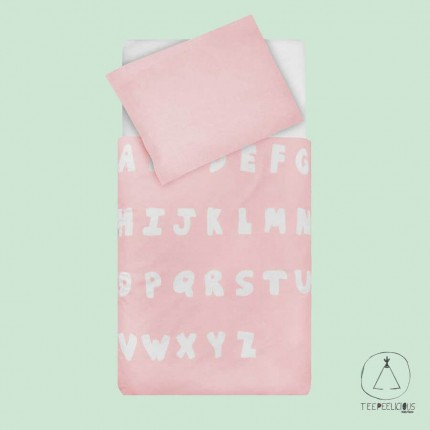 Duvet cover ABC pink