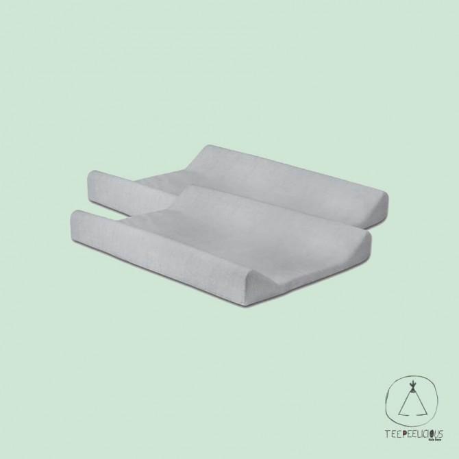 Changing Mat cover  soft grey (set of 2 pcs)