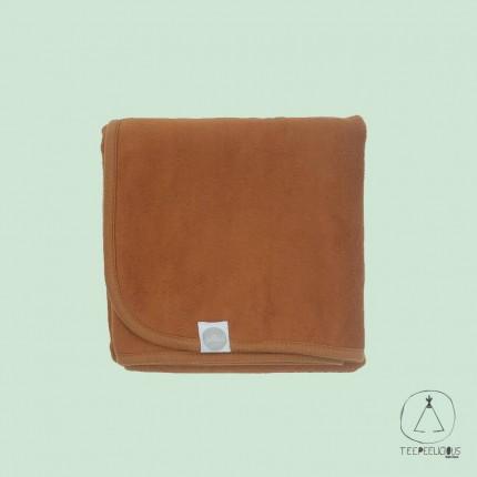 Cotton blanket caramel 75x100