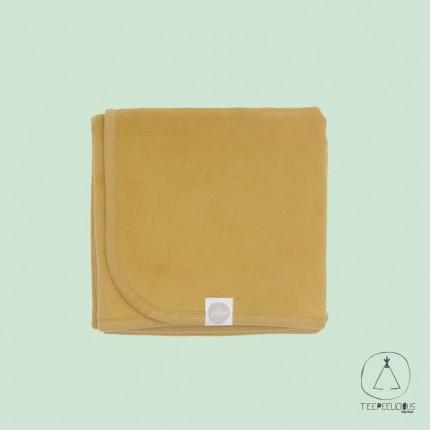 Cotton blanket mustard 100x150