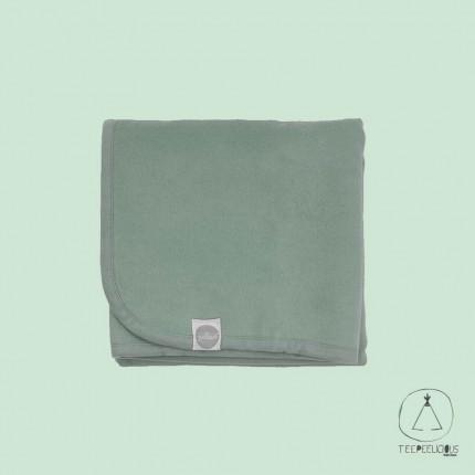 Cotton blanket green 75x100