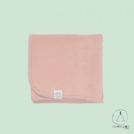 Cotton blanket pink 100x150