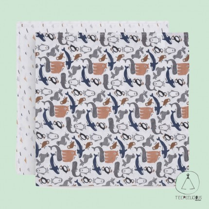 Multicloths polar 115x115 set of 2