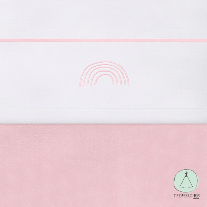 "Baby sheet ""Rainbow"" pink 120x150cm"