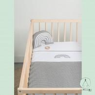 "Baby sheet ""Rainbow"" grey 120x150cm"