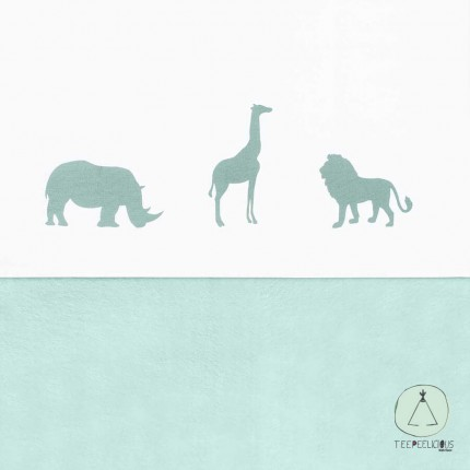 Baby sheet safari-green 120x150cm