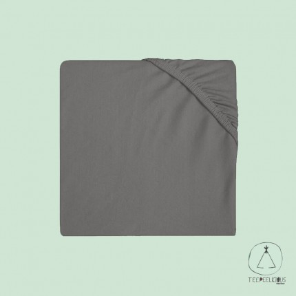 Fitted Sheet Jersey grey 60x120