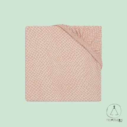 Fitted Sheet Jersey snake pink 60x120