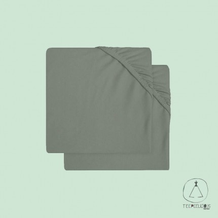 Fitted Sheet Jersey green 60x120 (2 pack)