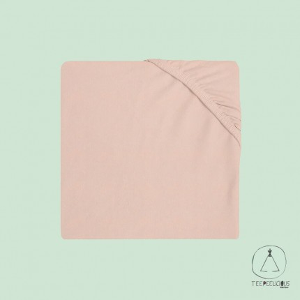 Fitted Sheet Jersey pink 60x120