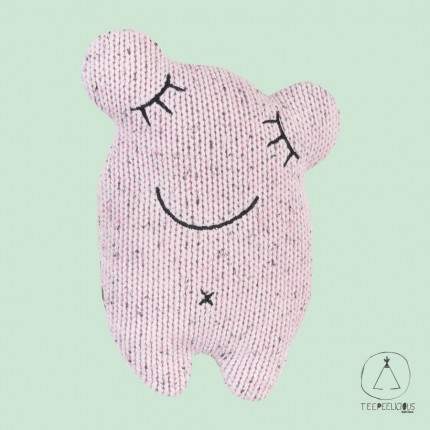 KNITTED LITTLE MONSTER PINK