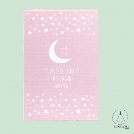"Rug ""to the moon and back"" Pink"