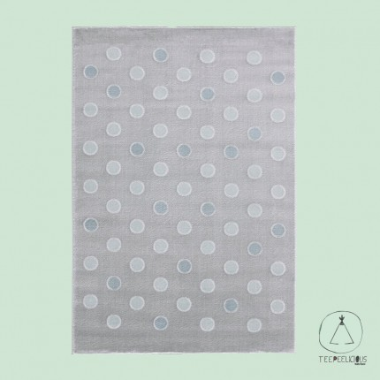 Rug confetti grey-mint