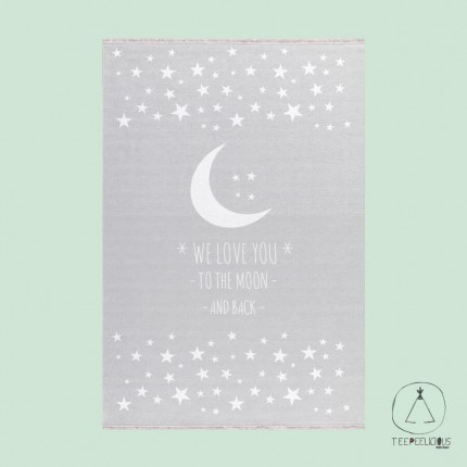 "RUG ""to the moon and back"" GREY"