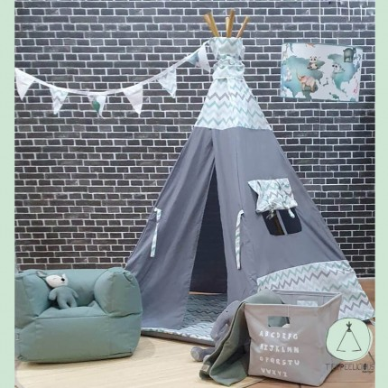 TEEPEE DUO CHEVRON GREY