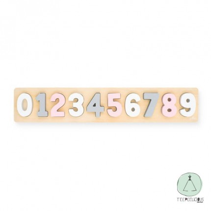 Numbers puzzle pink