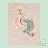 Pacifier Cloth Moon pink