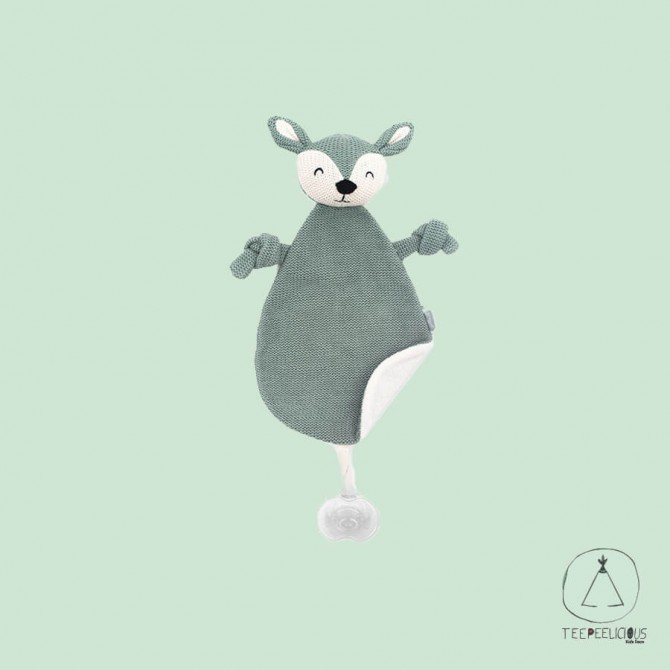 Pacifier Cloth Knitted Deer green
