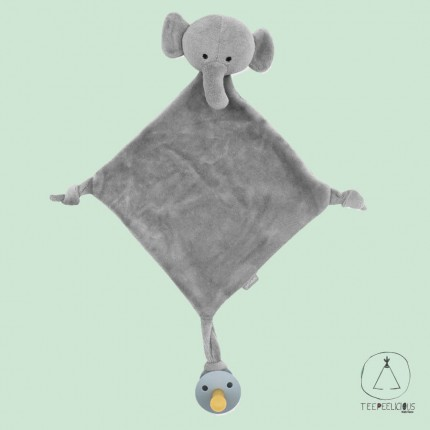 Pacifier Cloth elephant grey