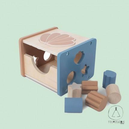Wooden Shape sorter blue