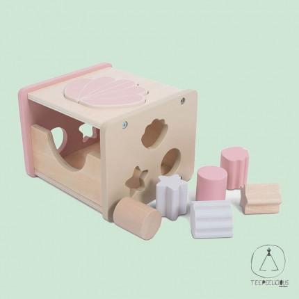 Wooden Shape sorter pink