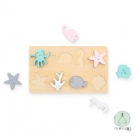 Wooden puzzle Sea Animals