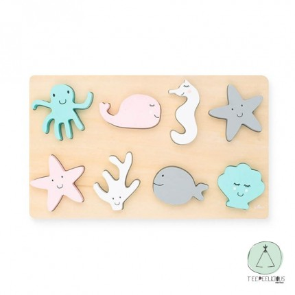 Wooden puzzle Sea Animals