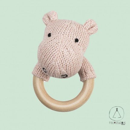 Hippo teething ring