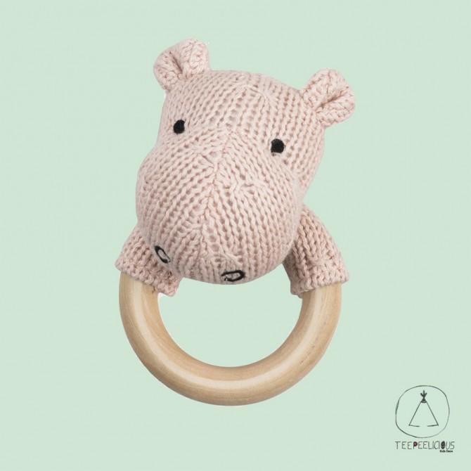 Hippo teething ring