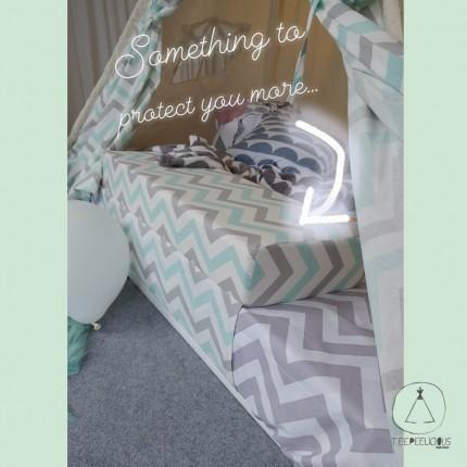 Teepee-bed protective cushion