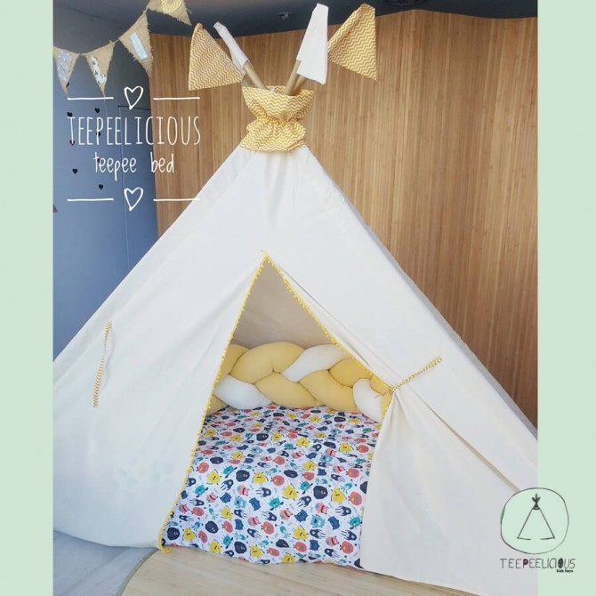 Pure teepee bed with pure doors