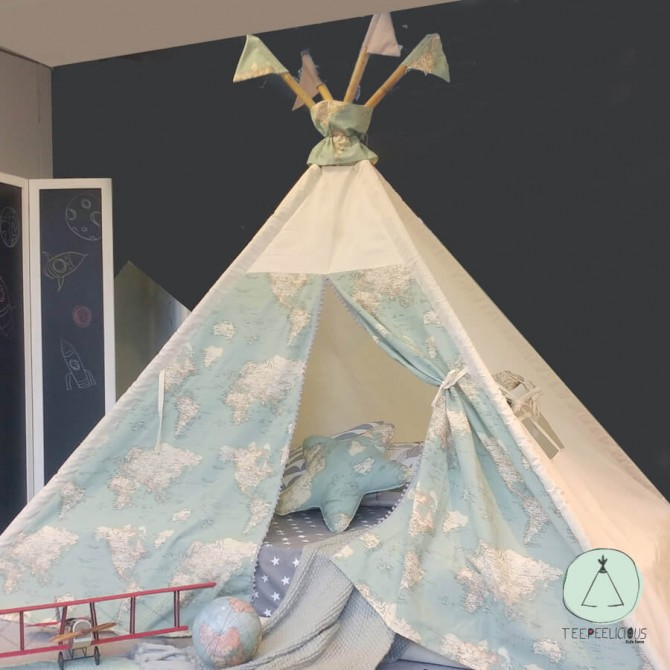 """PURE TEEPEE BED WITH DOORS """"GLOBAL"""""""