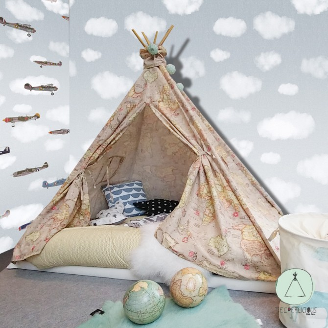 LUXURY TEEPEE BED WITH DOORS.
