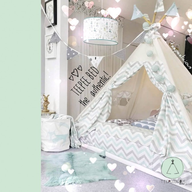 "PURE TEEPEE BED WITH DOORS ""MY CHEVRON"""