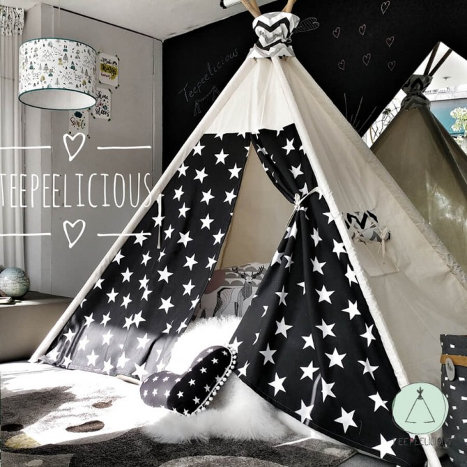 "PURE TEEPEE BED WITH DOORS ""BIG STARS"""